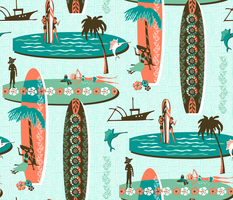 Gon Tiki Surf fabric by sheri_mcculley on Spoonflower - custom fabric