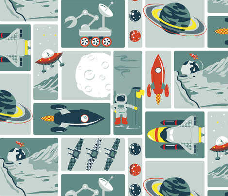 A voyage to the final frontier fabric by ebygomm on Spoonflower - custom fabric