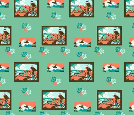 Hawaii Surf Fun fabric by bireaux on Spoonflower - custom fabric