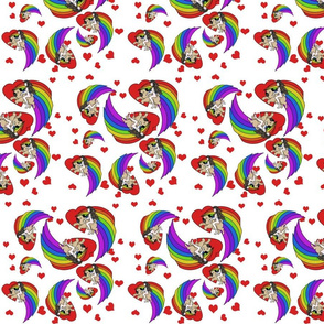 Pug Rainbow Godiva