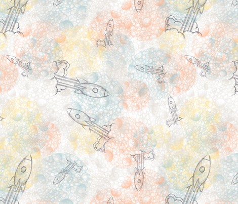 Fly_Me_to_the_Moon fabric by nat_olly on Spoonflower - custom fabric