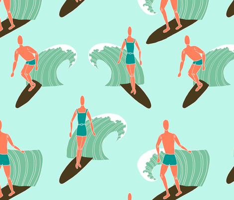 surfing-1 fabric by bahdesigns on Spoonflower - custom fabric