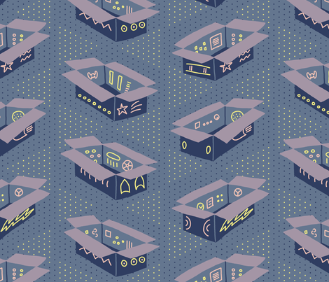 Cardboard Rockets fabric by mongiesama on Spoonflower - custom fabric