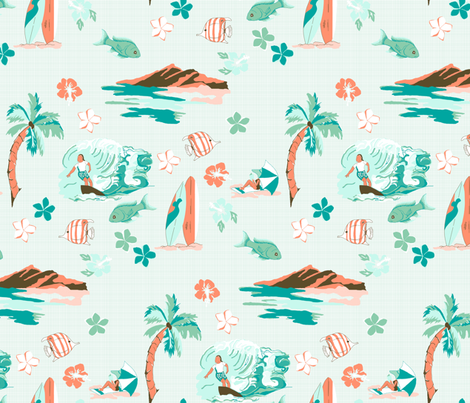 Hawaiian Shirt fabric by mbsterling on Spoonflower - custom fabric