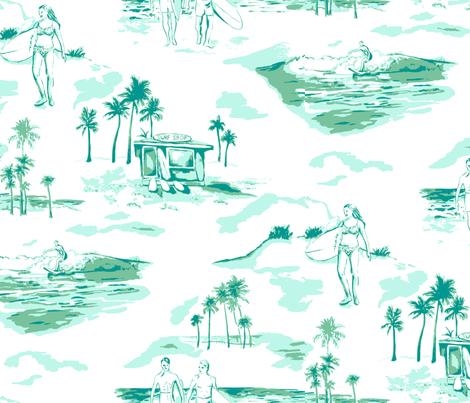 Surf Toile fabric by minimiel on Spoonflower - custom fabric