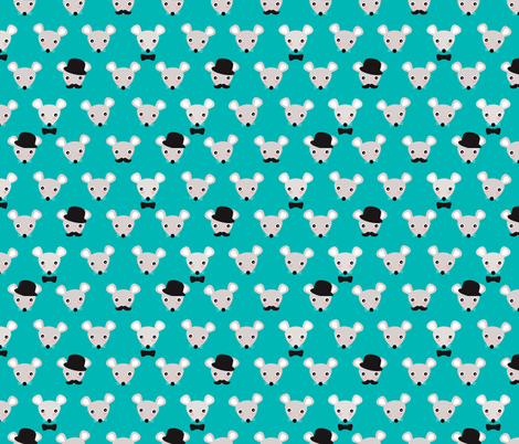 Hipster mice cute mustache wearing mouse pattern