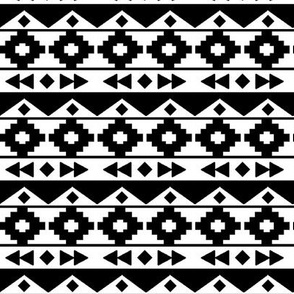 White on black tribal rows