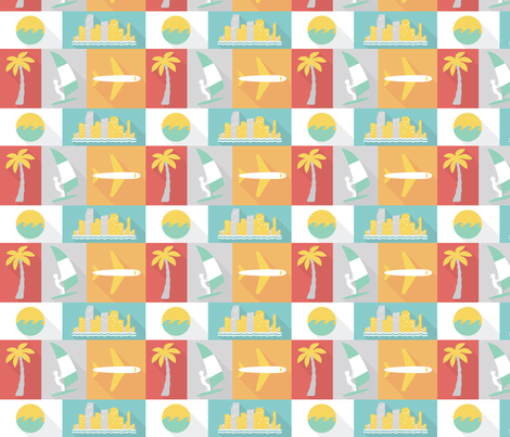 Miami fabric by studiofibonacci on Spoonflower - custom fabric