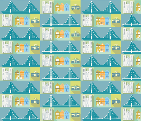 San Francisco fabric by studiofibonacci on Spoonflower - custom fabric