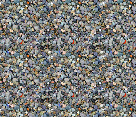Beach Stones - smallest fabric by koalalady on Spoonflower - custom fabric
