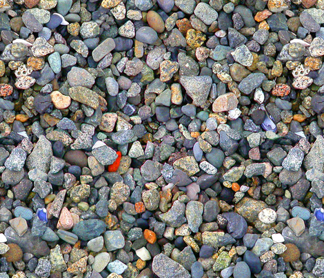beach stones- biggest size fabric by koalalady on Spoonflower - custom fabric