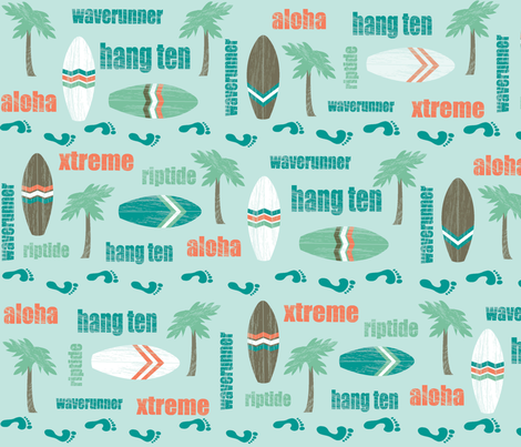 retro_surfing fabric by gritgirl on Spoonflower - custom fabric