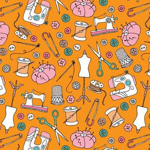 Sewing machine stitch needle and DIY supply illustration pattern