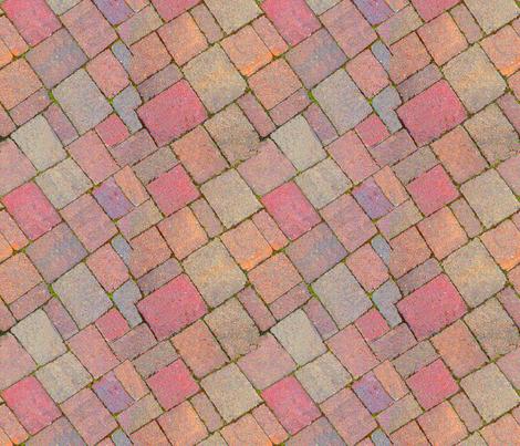 Footpath cement blocks 1 fabric by koalalady on Spoonflower - custom fabric