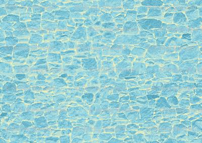 Rock Wall  miniature blue