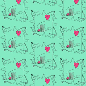 I Love Sewing Fabric