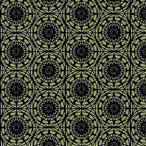 geometric circles - lime