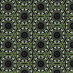 geometric circles - lime2