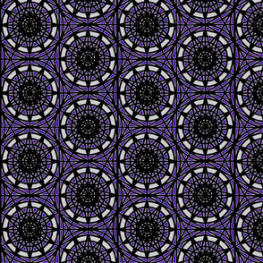 geometric circles - purple