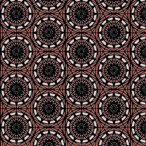 geometric circles - red