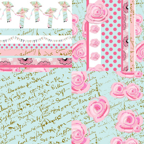 Shabby Chic Roses Fat Quarter bundle