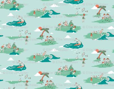 Vintage Surf Kids - Teal
