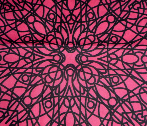 geometric circles - black/pink