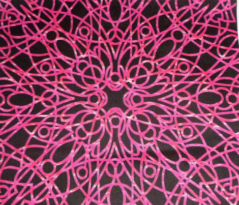 geometric circles - pink/black