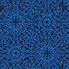 geometric circles - blue/black
