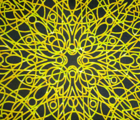 geometric circles - yellow/black