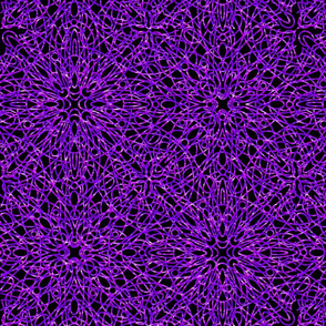 geometric circles - purple/black