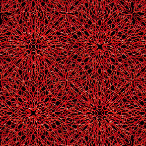 geometric circles - red/black