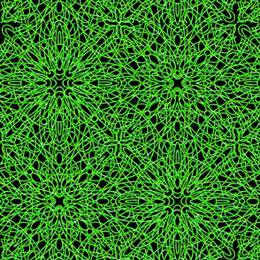 geometric circles - green/black