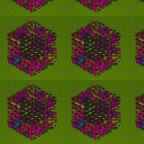 Exploding cube - lime