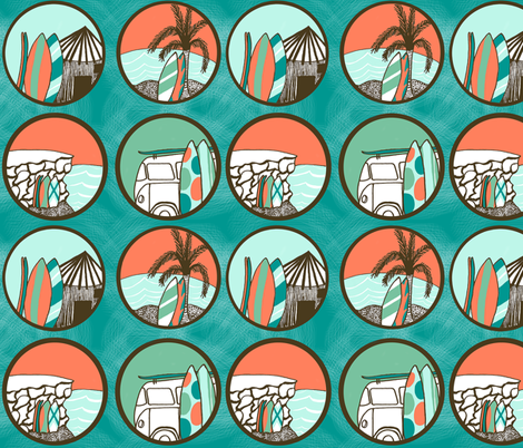 surf fabric by madebyeek on Spoonflower - custom fabric