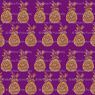 Pineapple Party in Purple and Yellow