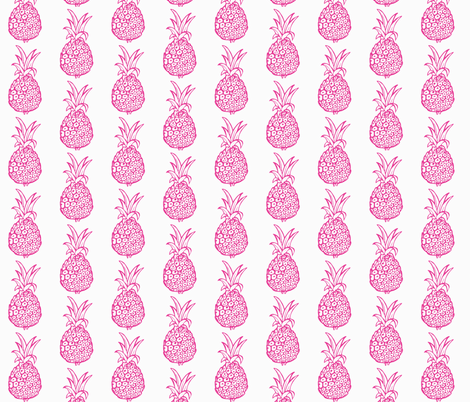Pineapple Party in Pink and White fabric by theartwerks on Spoonflower - custom fabric