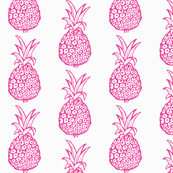 Pineapple Party in Pink and White