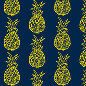 Pineapple Party in Navy and Yellow