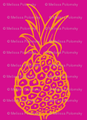 Pineapple Party in Hot Pink and Orange