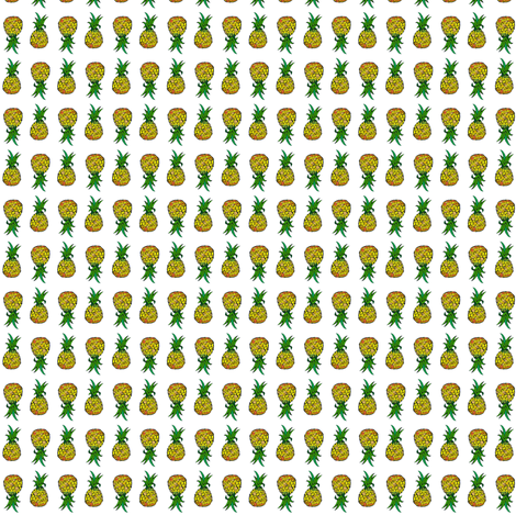 Pineapple Party. Small Print on White fabric by theartwerks on Spoonflower - custom fabric