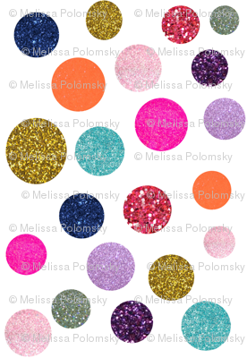 Glitter Polka Dot in Sunset Soiree
