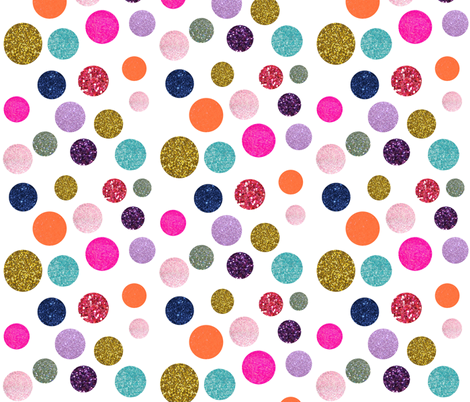 Glitter Polka Dot in Sunset Soiree  fabric by theartwerks on Spoonflower - custom fabric