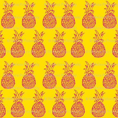Pineapple Party in Hot Pink and Yellow