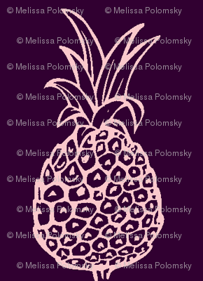 Pineapple Party in Eggplant and Light Pink