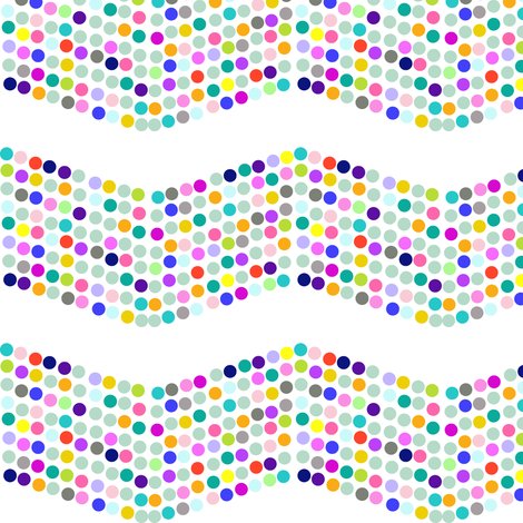 Polka Dotty Chevron in Bright Multiclor fabric by theartwerks on Spoonflower - custom fabric