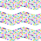 Polka Dotty Chevron in Bright Multiclor