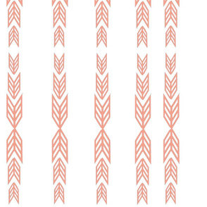 Strips of Arrows in coral