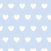 Hearts white on blue