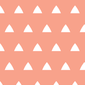 Triangle white on peach